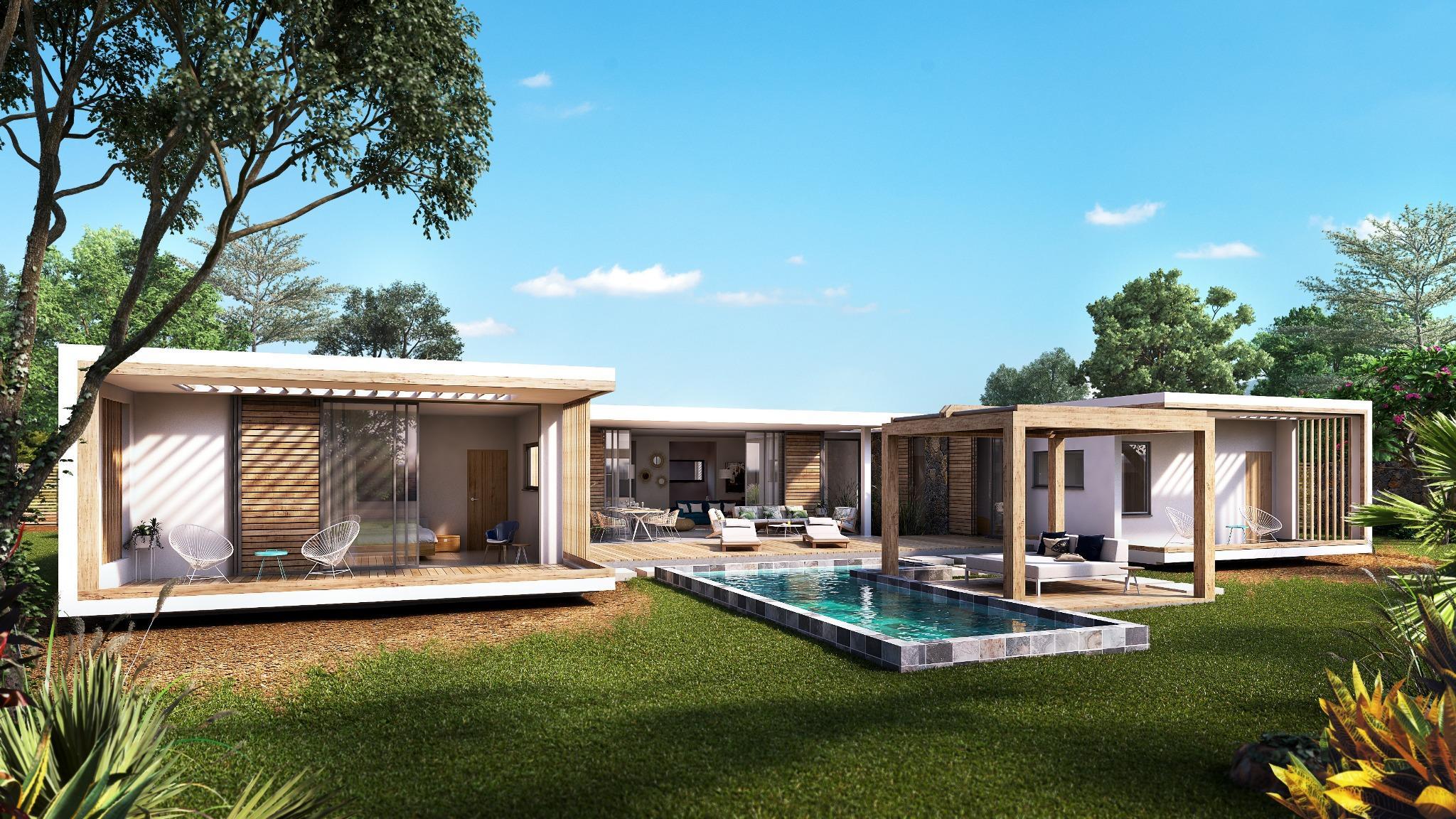 Projet PDS – A VENDRE – Villas de Luxe de type contemporain au coeur du village de Tamarin.