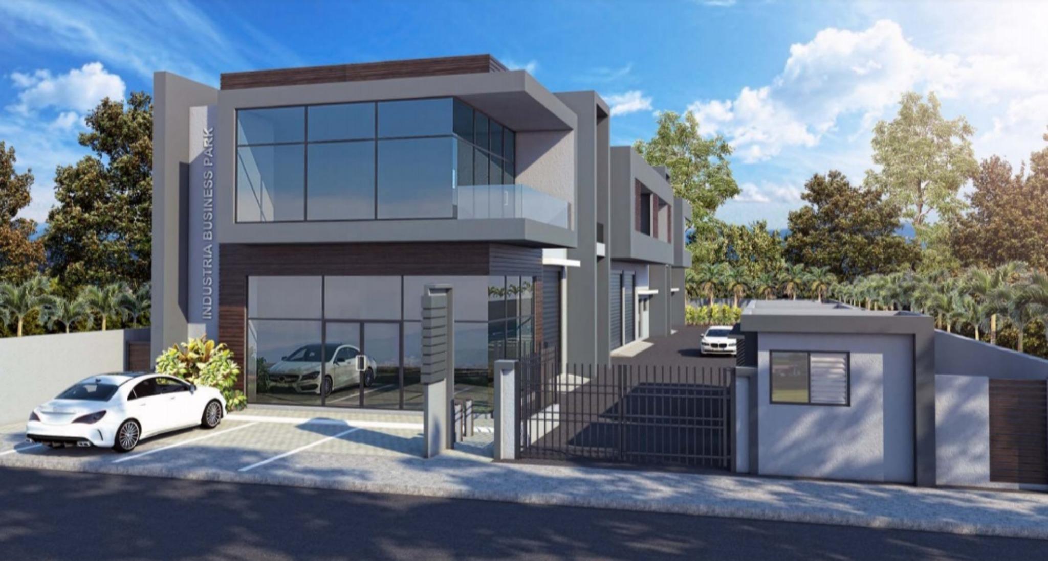 A louer – Espace commercial et industriel multi-usage (industrie légère) d'une superficie totale de 109.2 m2 à Bambous au 1er étage.